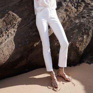 Madewell high riser Demi boot jeans